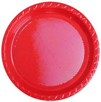 Excellent Quality   Heavy Duty and Microwave Safe  Red Lunch Plates 180mm  Pack of 25