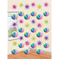 70s Disco Hanging Decorations Pk 6