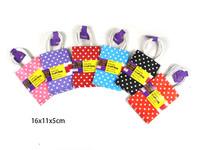 Paper Bag Craft Polka Dot Pk 3 Purple