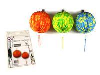 Chinese Lanterns Round 21cm Pk 2