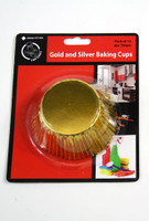 Cupcake Baking Cups Gold Pk 15
