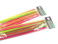 Straws Jumbo Neon Pk 50