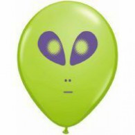 12 cm small Alien Lime Green Latex Balloon each