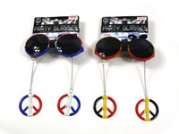 JAMAICAN PARTY PEACE GLASSES