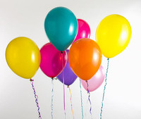 Helium Balloons   100 Loose Helium balloons 30cm   Choice of your colour ribbon included   We deliver helium balloons in Sydney Metro please call for delivery cost.