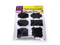 CHALKBOARD LABELS Pk 6 with 1 Chalk