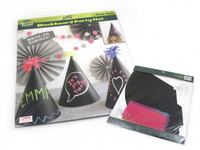 BLACKBOARD PARTY HATS SET Pk 4