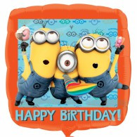 Despicable Me  Happy Birthday 45cm foil balloon