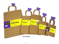 Craft Brown Paper Bag Pk 3