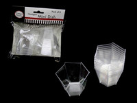 Hexagon Shape Clear Dish