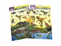 3D Dinosaur Sticker Sheet