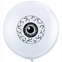 12cm Eyeballs White Latex Balloons Pack of 100