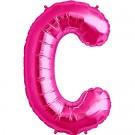 Letter C Megaloon Pink Foil 86cm Shape