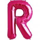 Letter R Megaloon Pink Foil 86cm Shape