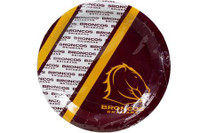 NRL PARTY PLATES BRONCOS 6PK 24CM