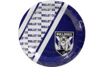 NRL PARTY PLATES BULLDOGS 6PK