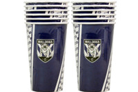NRL PARTY CUPS BULLDOGS 6PK
