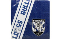 NRL PARTY NAPKINS BULLDOGS 12PK