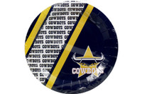 NRL COWBOYS PARTY PLATE 6PK