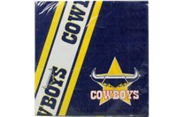 NRL PARTY NAPKINS COWBOYS 12PK