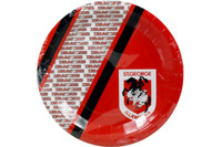 NRL PARTY PLATES ST GEORGE 6PK