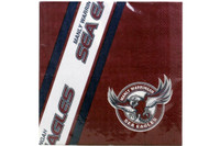 NRL PARTY NAPKINS SEA EAGLES 12PK