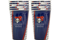 NRL PARTY CUPS KNIGHTS 6PK