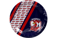 NRL PARTY PLATES ROOSTERS 6PK