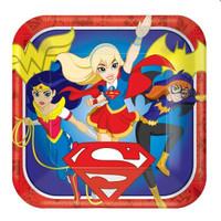 Super Hero Girls Dinner Plates Square