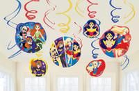 Super Hero Girls Hanging Swirls Decorations Value Pack