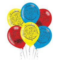 Super Hero Girls Latex Balloons
