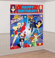 Super Hero Girls Scene Setter Kit Happy Birthday