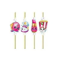Shopkins Straws Flexible Assorted Designs