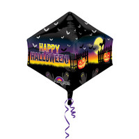 Shape Cubez Anglez Haunted Halloween Scene Foil Balloon