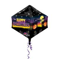 Shape Cubez Anglez Haunted Halloween Scene Foil Balloon