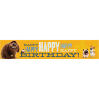 The Secret Life of Pets Banner Happy Birthday