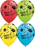 Rock and Roll Music Stars Latex Balloon