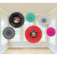 Classic 50's Printed Paper Fans