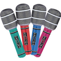 Inflatable Microphones Mixed Colours