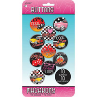 Rock Roll Buttons Badges