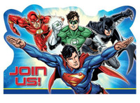 Justice League Invitations Join Us Envelopes