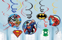 Justice League Hanging Swirls Decorations Value Pack