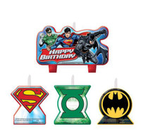 Justice League Candle Set Happy Birthday