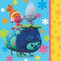 Trolls Luncheon Napkins Double Sided Design