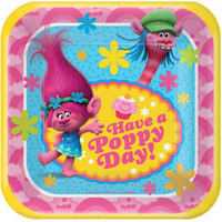 Trolls Luncheon Plates Paper Have a Poppy Day