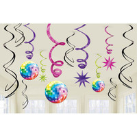Disco Fever Value Pack Hanging Swirls