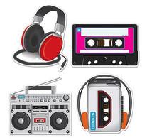 Cassette Player  Headphones Cutouts