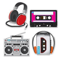 Cassette Player  Headphones Cutouts