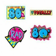 Cutouts 80's  PACK OF 4