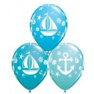 Nautical Anchors & Sailboats Assorted Balloons